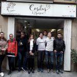 Los alumnos del curso de Comercio, visitando establecimientos en Huesca